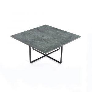 Ox Denmarq Ninety Sohvapöytä Vihreä Marmori / Musta 80x80 Cm