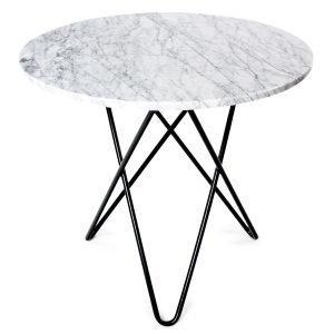 Ox Denmarq O Ruokapöytä Valkoinen Marmori / Musta