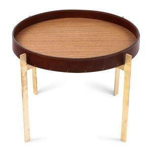 Ox Denmarq Single Deck Pöytä Cognac / Tiikki / Messinki