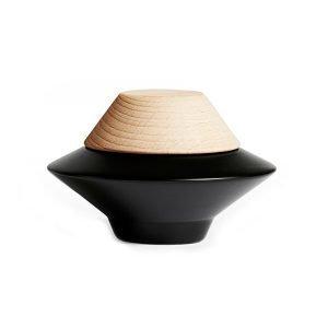 Oyoy Tippetop Ripustin Form 2 Musta / Luonnonväri Ø7