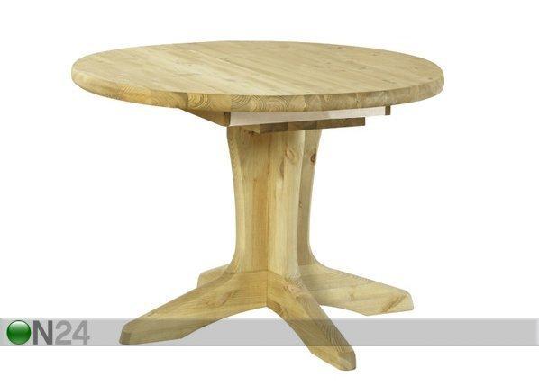 Pinus Jatkettava Ruokapöytä Stella Mänty 105x105-148 Cm