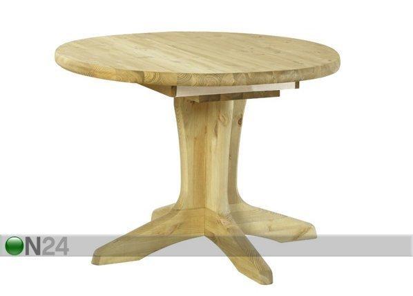 Pinus Jatkettava Ruokapöytä Stella Mänty 120x120-163 Cm