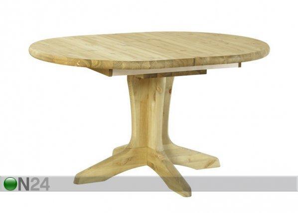 Pinus Jatkettava Ruokapöytä Stella Oval 100x140-180 Cm Mänty