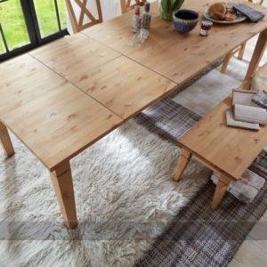 Pinus Jatkettava Ruokapöytä Windsor Mänty 100x160-260 Cm