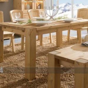 Pinus Ruokapöytä Guldborg 90x160 Cm Mänty