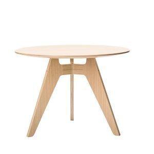 Poiat Lavitta Ruokapöytä Pyöreä Pähkinäpuu 100 Cm
