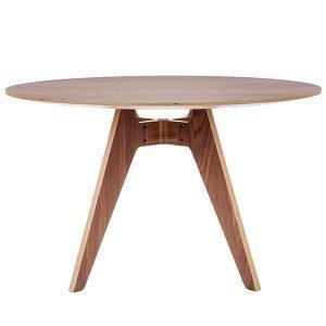 Poiat Lavitta Ruokapöytä Pyöreä Pähkinäpuu 120 Cm