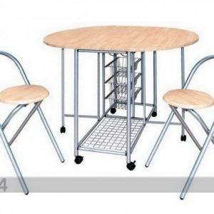 Pold Klaffipöytä + 2 Klaffituolia Bertia