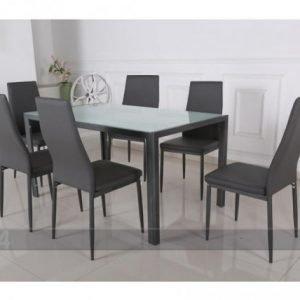 Pold Ruokapöytä Arras + 6 Tuolia