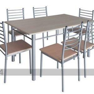 Pold Ruokapöytä Emma + 6 Tuolia