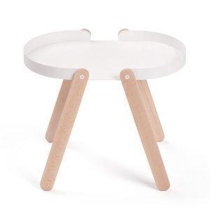 Puik Tepsi Sivupöytä Valkoinen
