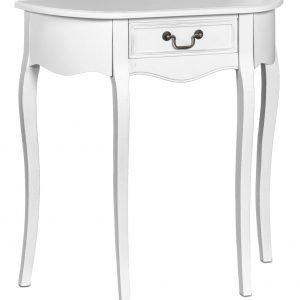Romantic Apupöytä Puolipyöreä Valkoinen
