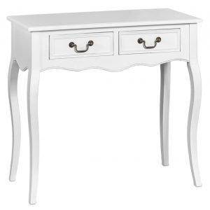 Romantic Apupöytä Suorakulmainen Valkoinen