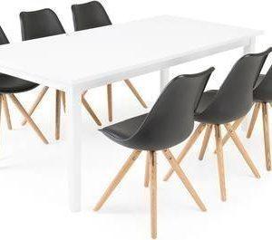 Ruokailuryhmä Aaron 6:lla Thomas tuolilla valkoinen/musta/luonnonväri