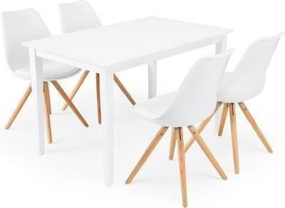 Ruokailuryhmä Aaron/Annikki valk/tammi 4 tuolia