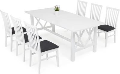 Ruokailuryhmä Amanda Arja tuoleilla valkoinen
