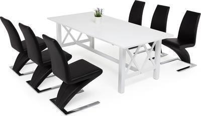 Ruokailuryhmä Amanda Hans tuoleilla valkoinen