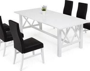 Ruokailuryhmä Amanda Ida tuoleilla valkoinen/musta