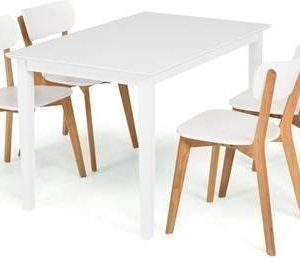 Ruokailuryhmä Annikki 4 Vieno tuolilla valkoinen/tammi