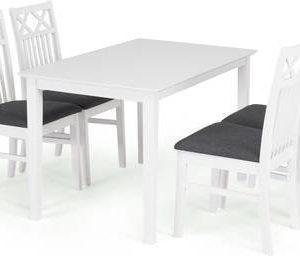 Ruokailuryhmä Annikki Thomas tuoleilla 4 tuolia valkoinen