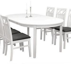 Ruokailuryhmä Arja pöytä ja Thomas tuolit valkoinen