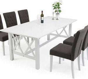 Ruokailuryhmä Elmer Amanda pöydällä 6 Elmer tuolia valkoinen/harmaa