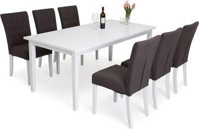 Ruokailuryhmä Elmer Thomas pöydällä 6:lla Elmer tuolilla valkoinen/ruskea
