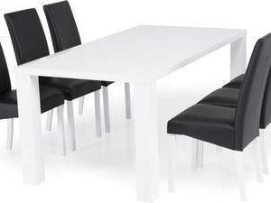 Ruokailuryhmä Johnny 6:lla Ida tuolilla valkoinen/musta