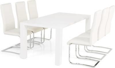 Ruokailuryhmä Johnny 6:lla Johnny tuolilla valkoinen