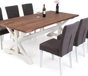 Ruokailuryhmä Kastehelmi 200x100 6:lla Elmer tuolilla