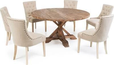 Ruokailuryhmä Kastehelmi pyöreä 150 6:lla Oscar tuolilla