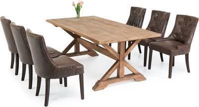 Ruokailuryhmä Kastehelmi vintage 6:lla Oscar tuolilla