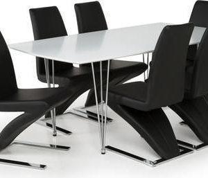 Ruokailuryhmä Marion 6:lla Hans tuolilla valkoinen/musta