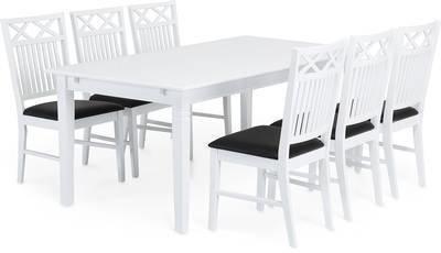 Ruokailuryhmä Orvokki 6 tuolia