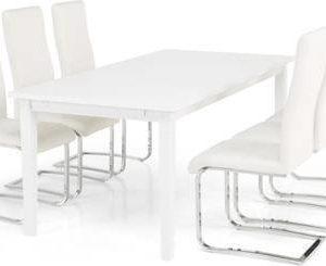 Ruokailuryhmä Thomas 6:lla Johnny tuolilla valkoinen