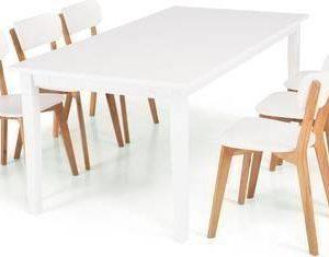 Ruokailuryhmä Thomas 6:lla Vieno tuolilla valkoinen/beige