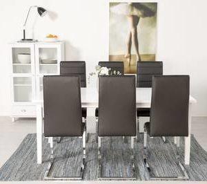 Ruokailuryhmä Thomas pöytä ja Johnny tuolit valkoinen/musta