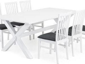 Ruokailuryhmä Tuula Arja tuoleilla valkoinen