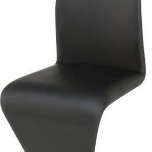 Ruokapöydän tuoli Dolly musta PU/kromi