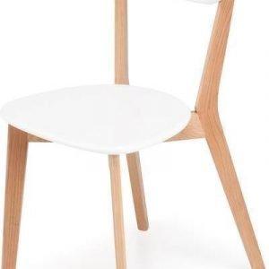 Ruokapöydän tuoli Vieno valk/tammi