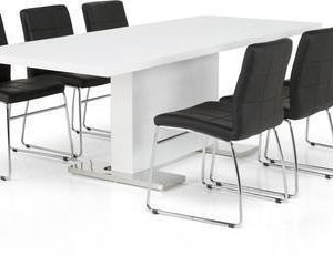 Ruokapöytä Hans Felix tuoleilla 6 tuolia