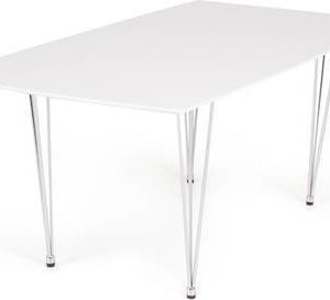 Ruokapöytä Marion 180x95 cm valkoinen kromijalat