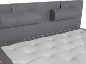 Sängynpääty Madeleine 180x125 cm vaaleanharmaa