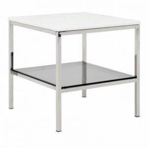 Sandy Sivupöytä 50 Teräs/Valkoinen