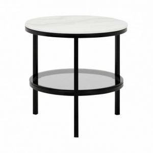 Sandy Sivupöytä Pyöreä 50 Musta/Valkoinen