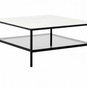 Sandy Sohvapöytä 90 Musta/Valkoinen