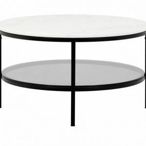 Sandy Sohvapöytä Pyöreä 80 Musta/Valkoinen