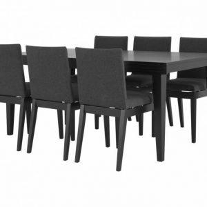 Sebring Pöytä 180 + 6 CLINT Tuolia Musta