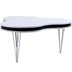 Select21 Kolmiapila Sohvapöytä Valkoinen / Musta