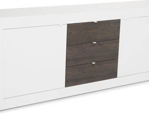 Senkki Moderni 86x210x43 cm valkoinen/wenge